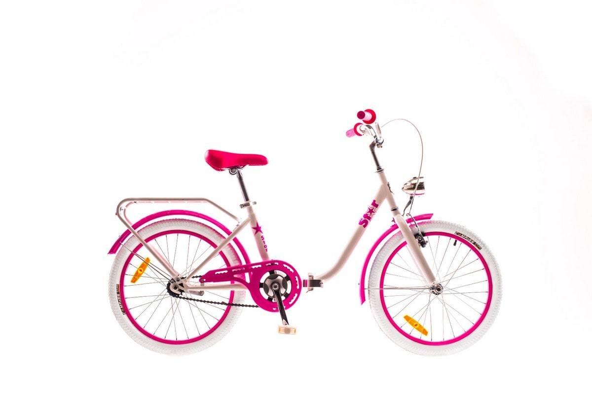 Складной велосипед для девочек Dorozhnik Star 2016 - бело-розовый