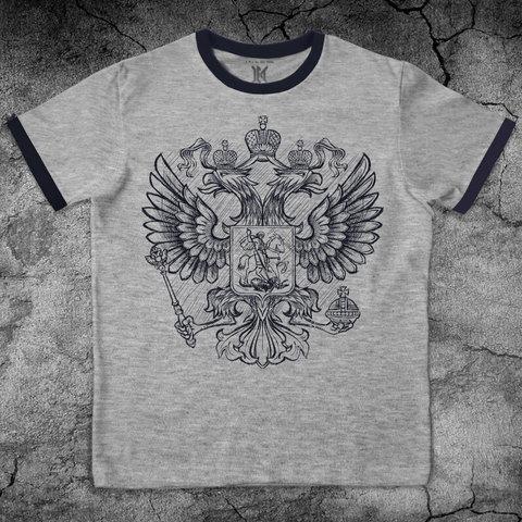 Купить хлопковую футболку Российский герб для пауэрлифтинга, для зала, фитнеса, стиль жизни
