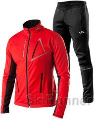 Утеплённый лыжный костюм 905 Victory Code Dynamic 2019  red мужской