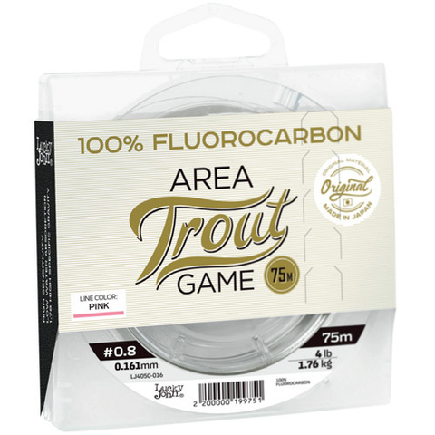 Леска LUCKY JOHN Area Trout Game Fluorocarbon Pink 75 м – 0,234 мм