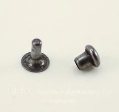 Заклепка из 2х частей TierraCast 5х1,7 мм, 4х4 мм (цвет-черный никель)