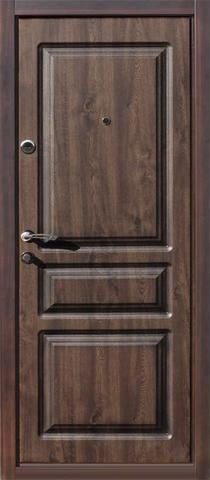 Дверь входная Oxford стальная, орех, 2 замка, фабрика Сибирский Стандарт