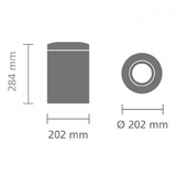 Урна для бумаг с защитой от возгорания (7 л), Стальной матовый, арт. 378942 - превью 4