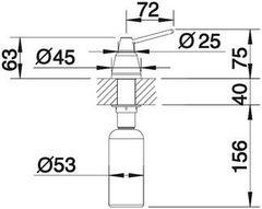 Дозатор Blanco Tiga хром схема
