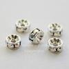77504 Бусина - рондель Сваровски Crystal AB (цвет - серебро) 4х2 мм