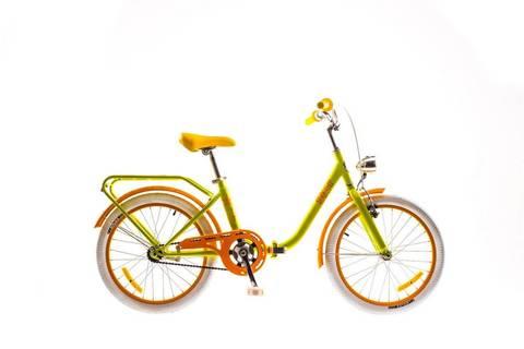 Складной велосипед для девочек Dorozhnik Star 2016 - желтый