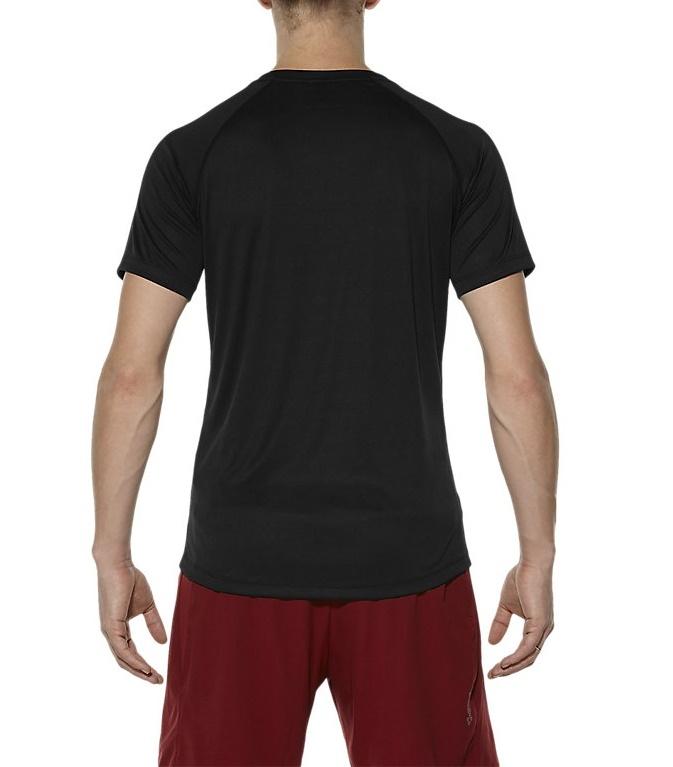Мужская футболка для бега Asics Stripe SS (126236 0904) черный