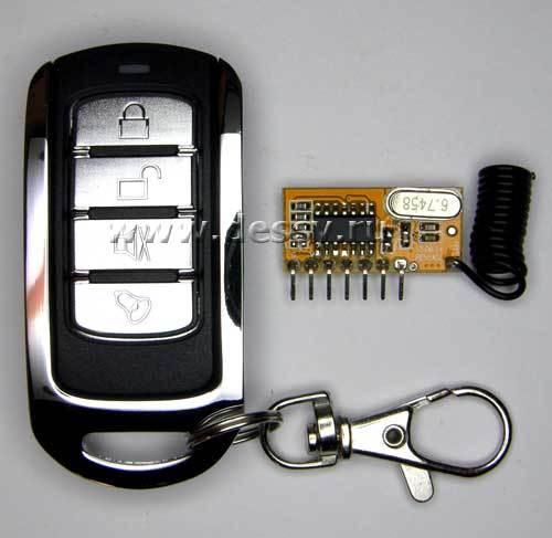 Субминиатюрный выключатель дистанционный четырёхканальный на радиочастоте