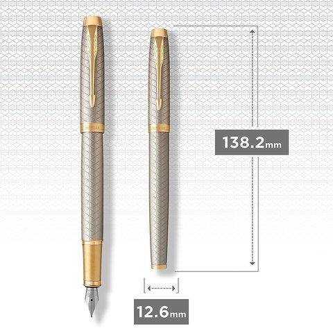Перьевая ручка Parker IM Premium Warm Silver (grey) GT123