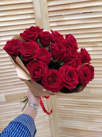 19 красных роз 50 см в стильном оформлении (PbFlora) #20899