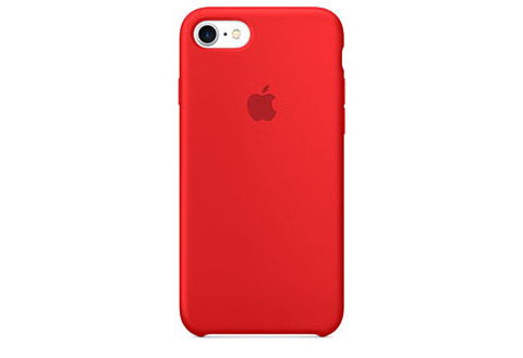 Apple iPhone 7/8 Чехол Silicon Case (Красный)