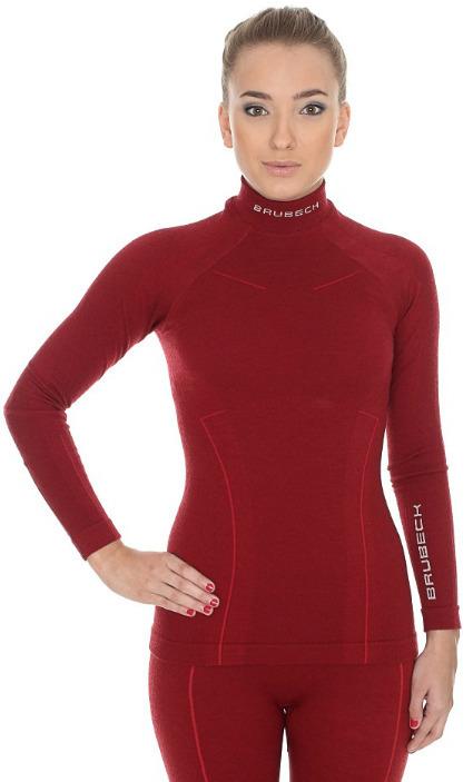 Женская терморубашка Brubeck Wool Merino (LS11930) бордовая