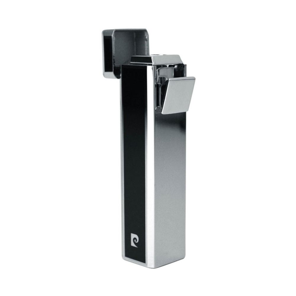 Зажигалка Pierre Cardin кремниевая газовая пьезо,цвет хром/черный лак, 1,7х1,7х7,5см