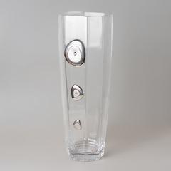 Ваза декоративная 40 см серебро 415/336