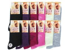 B5043 носки женские 36-41, (12шт) цветные
