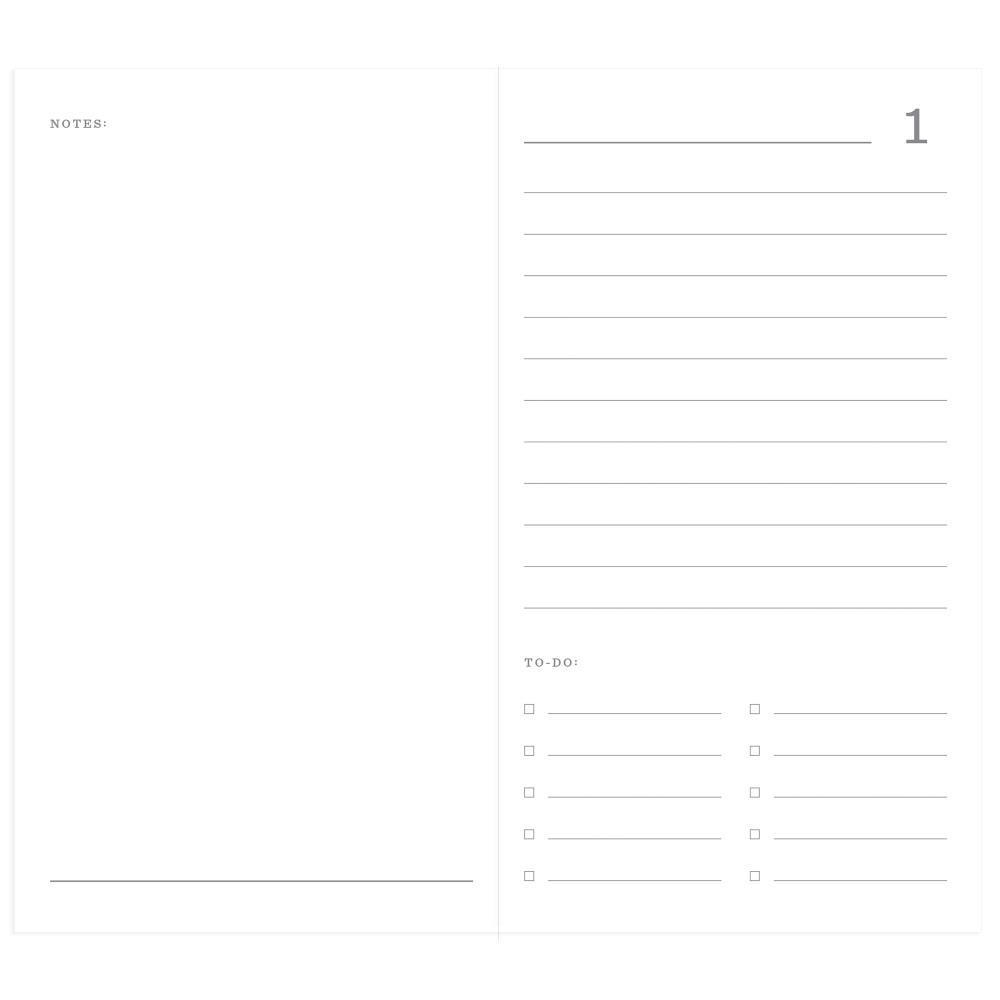 Набор внутренних блоков для тревелбука  - 11х21 см-Echo Park Traveler's Notebook - Red Buffalo Plaid Daily Calendar- 2 шт