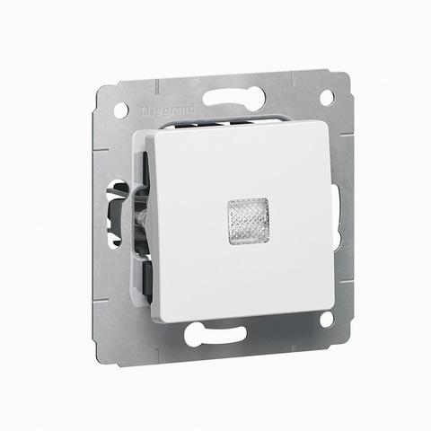 Выключатель одноклавишный с индикацией - 10 AX - 250 В~. Цвет Белый. Legrand Cariva (Легранд Карива). 773610