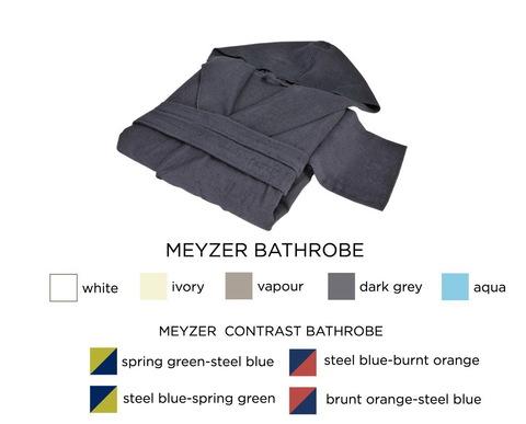 Элитный халат хлопковый Meyzer синий с красным от Hamam