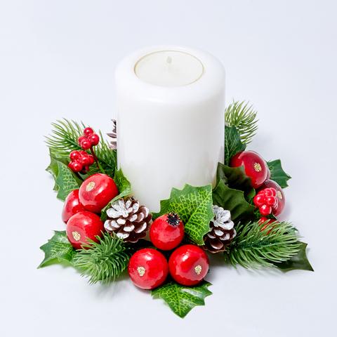 """Праздничный венок для свечи """"ПРАЗДНИК"""""""