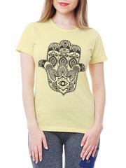 461134-27 футболка женская, желтая