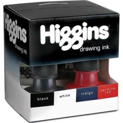 Набор чернил HIGGINS Dye-Based (красный, синий, белый, черный)