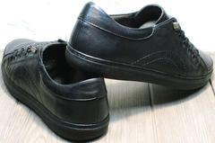 Туфли кроссовки без шнурков и липучек мужские на осень Novelty 5235 Black