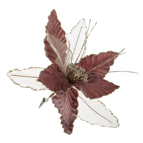 Ёлочное украшение-цветок