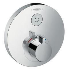 Смеситель встроенный термостат с запорным клапаном Hansgrohe ShowerSelect S 15744000