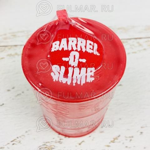 Лизун слайм в бочке Barrel O Slime большой Красный