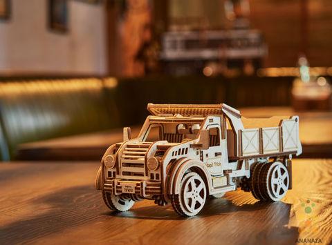 Грузовик-Самосвал от  Wood Trick - Деревянный конструктор, 3D пазл, сборная модель
