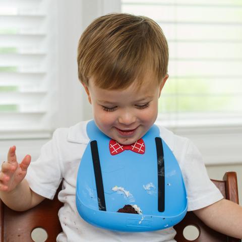Make My Day Детский нагрудник, Ученый (синий)
