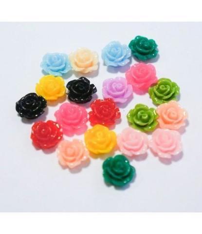 163 стразы цветочки разноцветные 20 шт