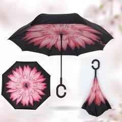 Зонт наоборот Цветок розовый