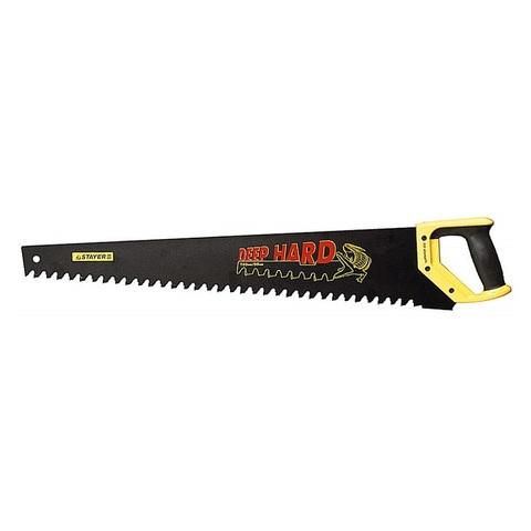 Ножовка по пенобетону (пила) STAYER COBRA Beton 700 мм, шаг 20 мм, 17 твердосплавных резцов (2-15097)