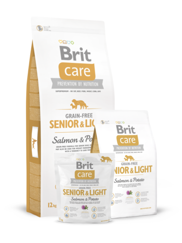 Brit Care Grain-free Senior&Light Salmon & Potato