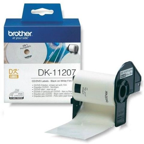 Наклейки на CD/DVD Brother DK-11207 (диаметр 58 мм) 100 шт