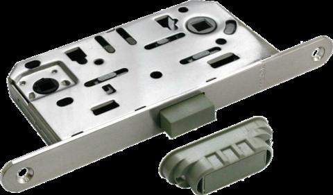 Фурнитура - Замок Сантехнический магнитный Morelli М1895 SN, цвет никель сталь + многослойное гальваническое покрытие