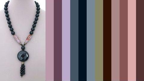 тёмная цветовая палитра для одежды