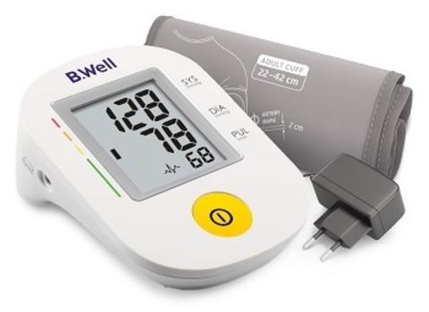 Тонометр автоматический говорящий B.Well PRO-36 (М-L), адаптер, индикатор аритмии