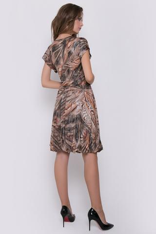 """Роскошное платье из мягкого трикотажа с волшебным напылением. Фасон юбки - баллон с подкладом из сетки-стрейч. Смотрится """"нереально"""", Вы сведете с ума многих модниц..Длина изделия 44р.-52р.=89см-96см."""