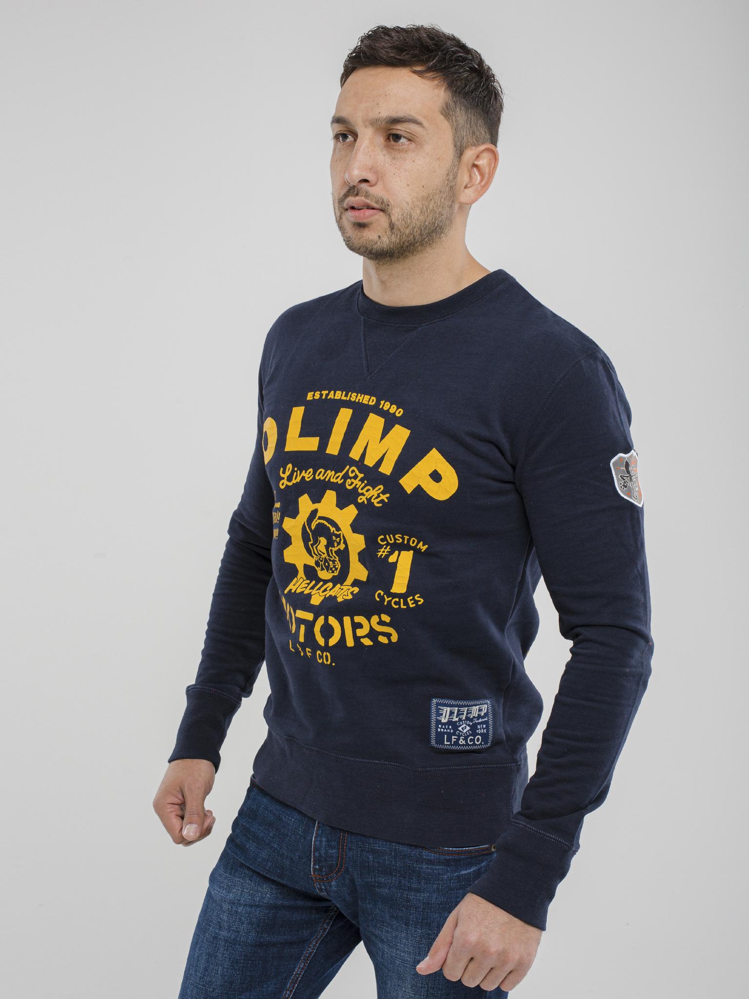 Мужской пуловер Olimp Hell Cat navy
