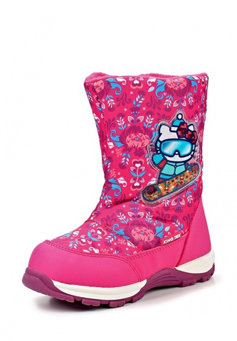 Зимние сапоги Хелло Китти (Hello Kitty) на молнии с мембраной для девочек, цвет розовый. Изображение 3 из 8.