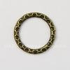 Коннектор - кольцо с узором 18 мм (цвет - античная бронза)