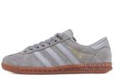 Кроссовки Мужские Adidas Hamburg Suede Double Grey
