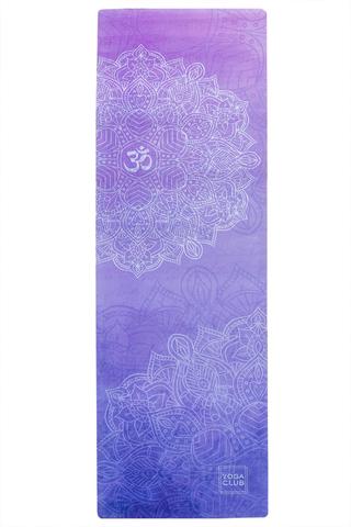 Коврик для йоги Ом 183*61*1-3мм из микрофибры и каучука