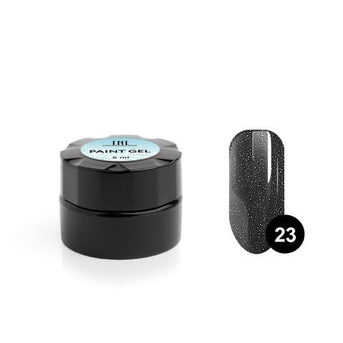 Гель-краска для дизайна ногтей TNL №23 (мокрый асфальт), 6 мл.