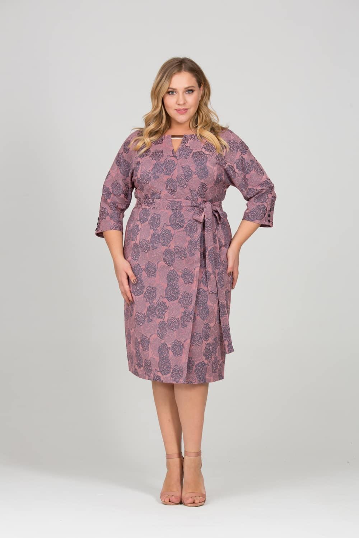 Платья Платье Жаккард Розы розово-серое 06433baebcebb570be22173a8e466e24.jpg