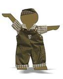 Полукомбинезон - Демонстрационный образец. Одежда для кукол, пупсов и мягких игрушек.