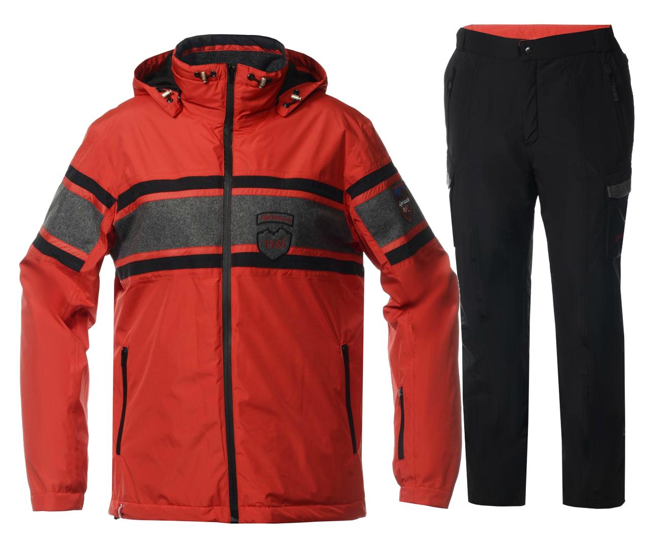 Мужской горнолыжный костюм Almrausch Staad-Hochbruck 320103-321300 красный фото