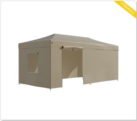 Шатер - тент садовый 3x6х3м полиэстер бежевый